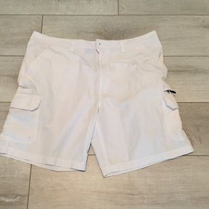 Reel Legends Men's Cargo Shorts White Size 40